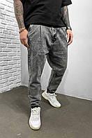 Модные демисезонные мужские джинсы с манжетами (Серые) 5999-3523