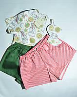 Подарочный набор с пижамой из футболкb и 2 видов шорт и маской для сна для девушки Milk