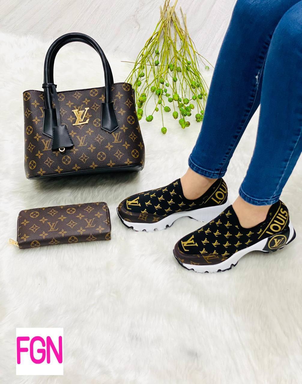Набір: сумка, взуття, гаманець