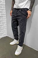 Модные демисезонные мужские джинсы МОМ (черный) 5935-3529