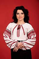 Женская блуза с национальной вышивкой, размер 50