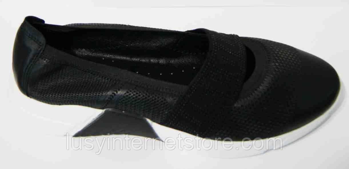 Туфли черные кожаные большого размера от производителя модель МИ3049-32
