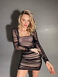 Платье из сетки с драпировкой BRQ2669, фото 2