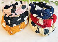 Обруч Чалма гофра текстиль 6 цветов