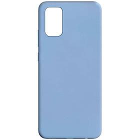 Силіконовий чохол Candy для Samsung Galaxy A02s / M02s Блакитний / White Blue