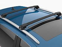 Багажник на крышу Volkswagen Caddy 2010- на рейлинги черный Turtle, фото 1