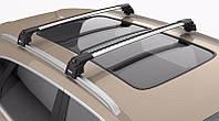 Багажник на крышу Opel Mokka 2012- на интегрированные рейлинги серый Turtle, фото 1