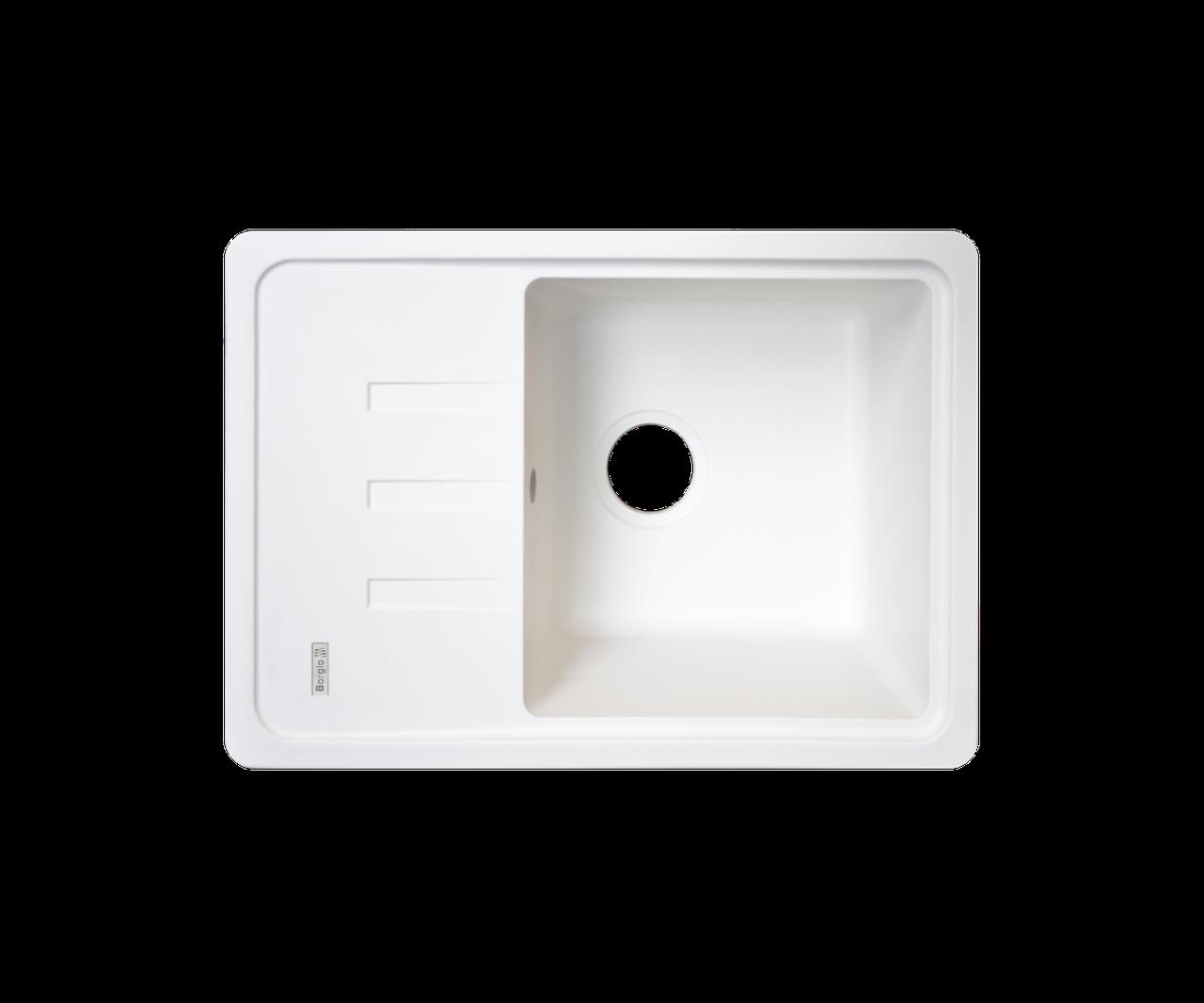 Кухонна мийка Borgio (граніт) PRC-620x435 (білий)