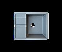Кухонна мийка Borgio (граніт) PRC-650x500 (сірий металік), фото 1