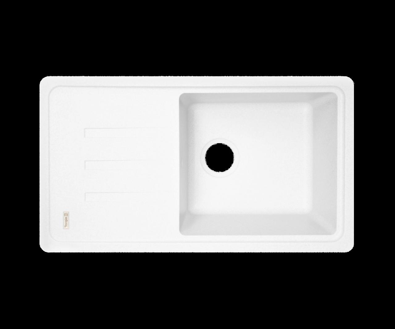 Кухонна мийка Borgio (граніт) PRC-780x435 (білий)