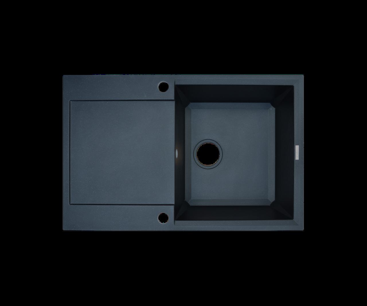 Кухонна мийка Borgio (граніт) PRH-790x500 (чорний)