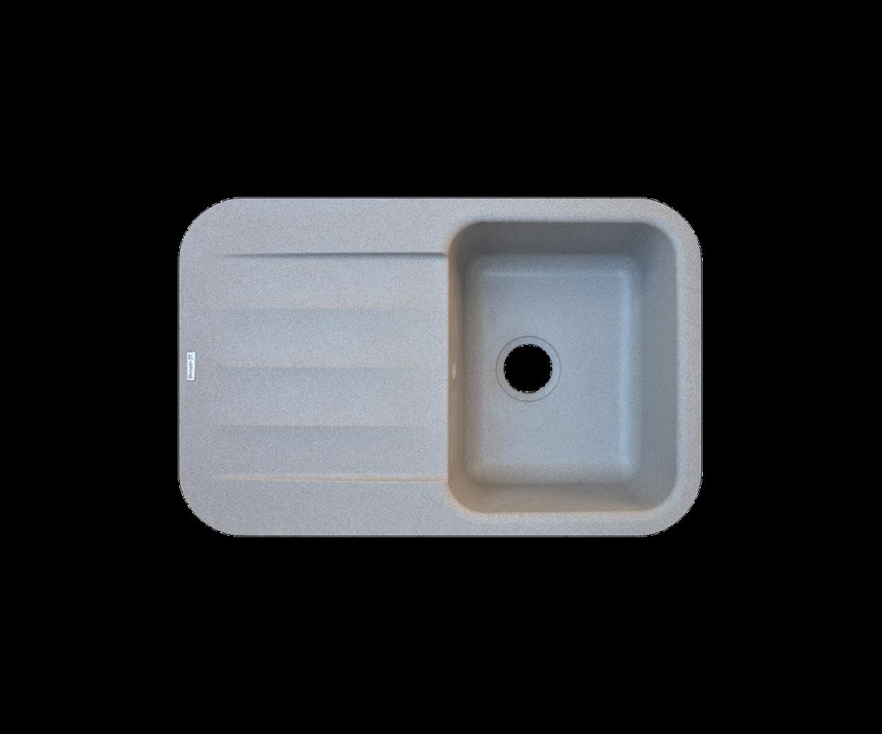 Кухонная мойка Borgio (гранит) PRO 780 * 500 (серый камень)