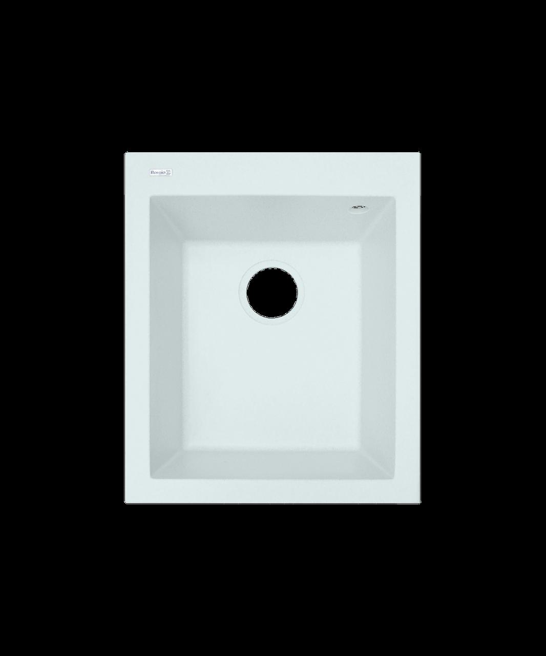 Кухонная мойка Borgio (гранит) Q 410x500 (белый)