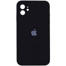 "Чохол Silicone Case Square Full Camera Protective (AA) для Apple iPhone 11 (6.1 ""). Чорний / Black"