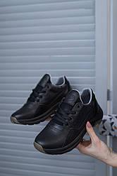 Подростковые кроссовки кожаные весна/осень черные Emirro 318 Black Edition