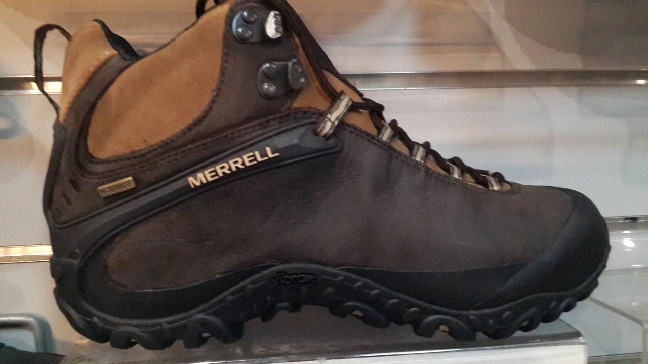 Мужские ботинки Merrell Chameleon 4 Mid Waterproof (коричневые)