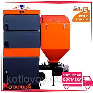Твердотопливный котел с автоматической подачей топлива Белкомин TIS EKO DUO 55