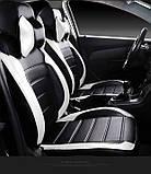 Чехлы на сиденья Субару Аутбек (Subaru Outback) модельные MAX-L из экокожи Черно-белый, фото 6