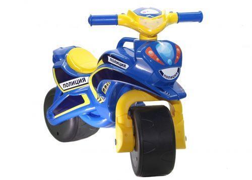 """Мотоцикл-каталка Doloni """"Поліція"""" (синій) музичний"""