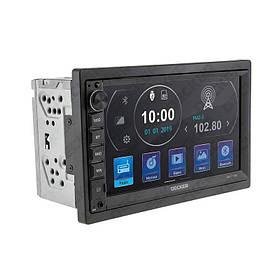 Автомагнитола Decker DV-711W (Bluetooth, USB, SD, дисплей 7*, 2DIN, +пульт, mp5, 12 мес гарантия)