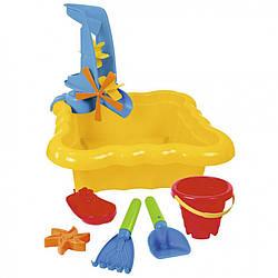 Набор для песка и воды с мельницей 7 эл. (Желтый)39698