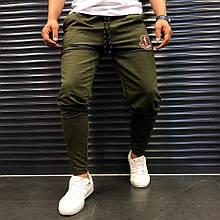 Мужские спортивные штаны Moncler 21932 хаки