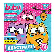 "Пластилин YES ""Bubu"",12 цветов, Украина 240 грамм 540563"