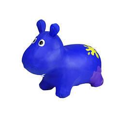 Детская игрушка Прыгун резиновый Bambi Бегемот, синий. Оригинальный подарок для активного ребенка