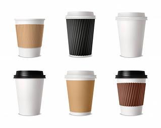 Стаканы бумажные для кофе или чая