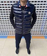 Мужской жилет Moncler H1218 синий