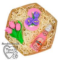 Мило набір 8 березня, вісімка, мартіні, букет тюльпанів, подарунок жінці, ручна робота