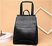 Рюкзак жіночий шкіряний трансформер Sminica, фото 6