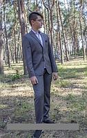 Костюм-двойка школьный серый для подростка р.152-164  Paulo Carvelli Турция