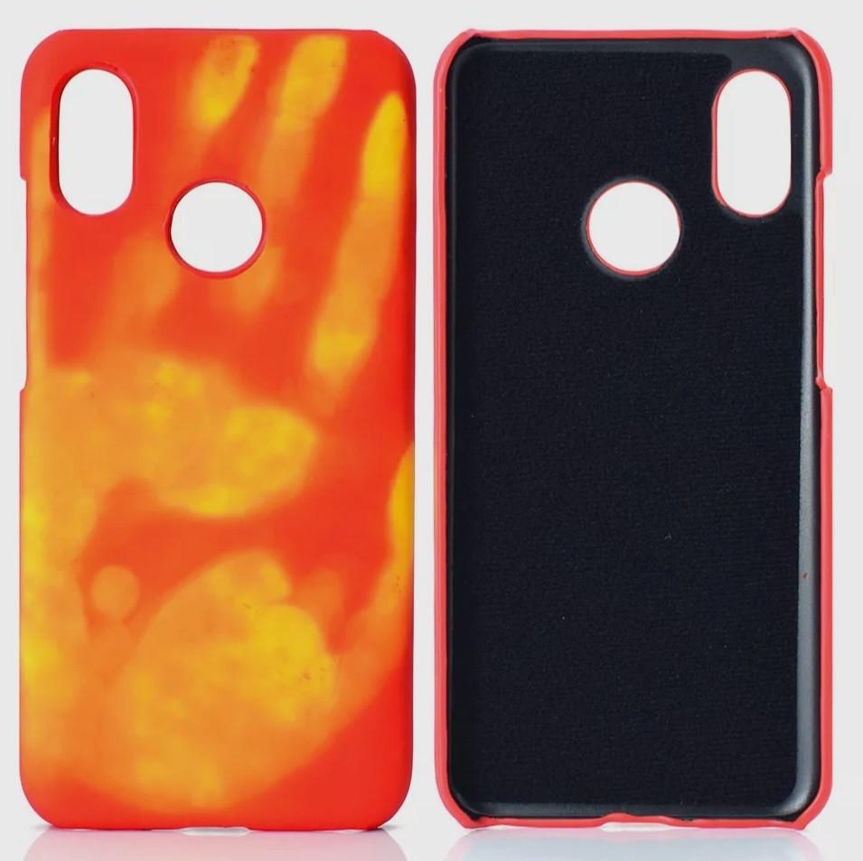 Тепловой индукционный защитный чехол для Xiaomi Redmi Note 7 / Redmi Note 7 Pro Orange