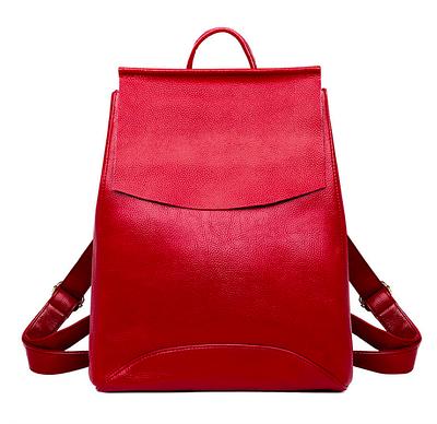 Рюкзак женский кожаный трансформер Sminica Красный