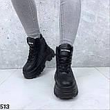 Кроссовки женские вычсокие черные, фото 5