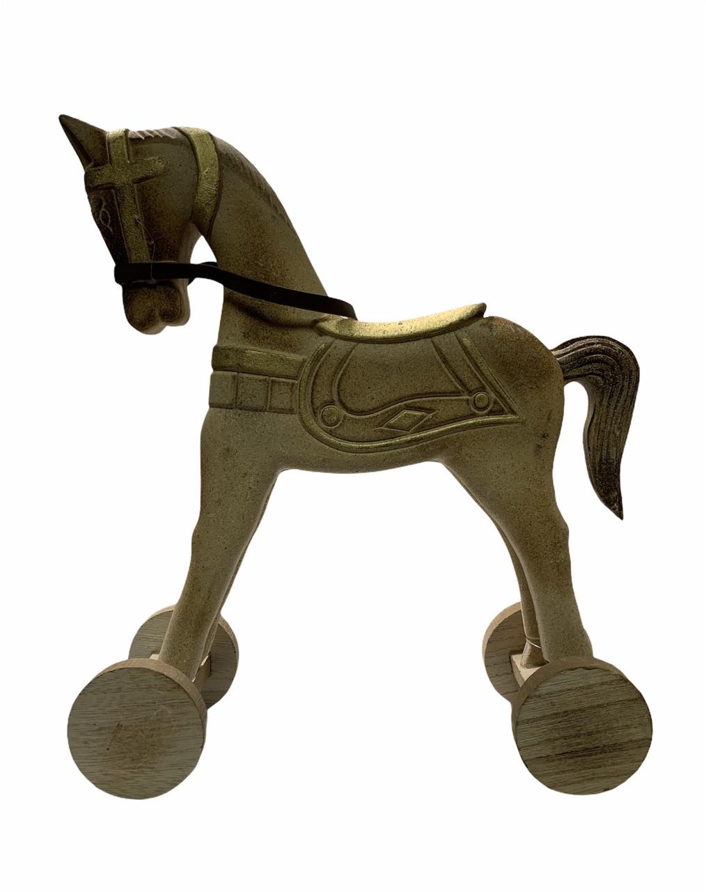Лошадь деревянная/декоративная  на колесах Edeka 29 х 10,6 х 33,2 см