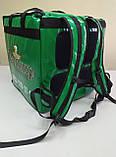 Рюкзак для доставки пива, напоїв, їжі. Сумка для доставки пива, напоїв, їжі, піци. Термосумка ПВХ., фото 7