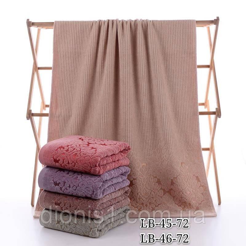 Банное полотенце махровое Узорное 70х140 махра