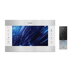 Комплект видеодомофона Slinex SL-10M Silver White + Вызывная панель Slinex ML-20HD Silver Black