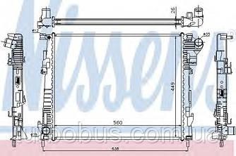 Радиатор водяной, Рено Трафик 2.0dci (с/без кондиц.) NISSENS (Дания) 63122