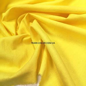 Ткань лён стрейч желтый