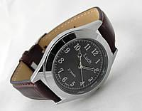 Часы мужские Луч серебристые с черным циферблатом
