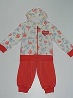 Нарядный трикотажный костюм детский для девочки рр. 74, 80 Турция