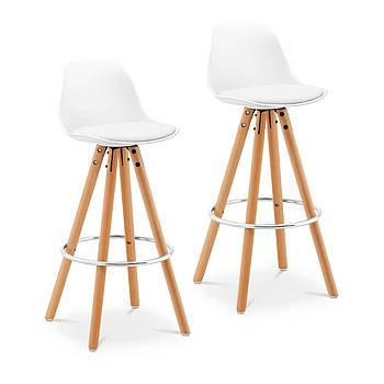 Барный стул - обитый - белый - 2 шт. Fromm & Starck Марка Европы