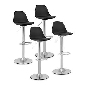 Барный стул - обитый - черный - 4 шт. Fromm & Starck Марка Европы