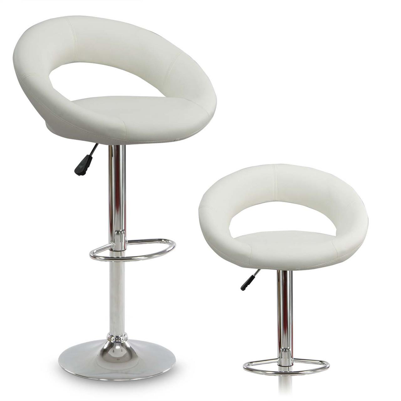 Барный стул со спинкой Forza White