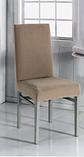 Универсальные натяжные стрейч чехлы накидки на стулья со спинкой для кухни турецкие водоотталкивающие Бежевые, фото 8