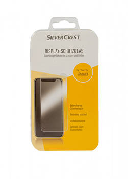 Захисне скло для iPhone Х Silver Crest