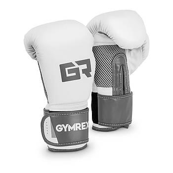 Боксерские перчатки - 10 унций - светло-серый металлик Gymrex Марка Европы